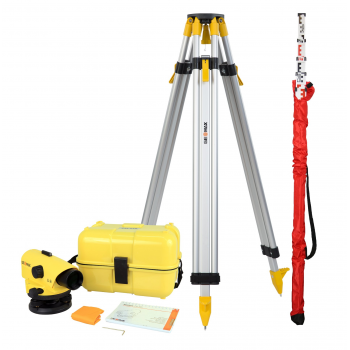 Pachet Nivela optică GeoMax ZAL 324, Zoom optic 24x + Trepied + Stadie 5m-1